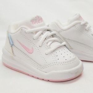 Nike Play Infant Sneakers White Pink Baby Shoes 2C